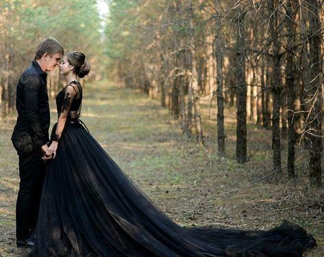 Goth Wedding Dresses, October Wedding Dresses, Tulle Skirt Wedding Dress, Black Wedding Gowns, Rustic Wedding Gowns, Fairy Wedding Dress, Custom Wedding Dress, Colored Wedding Dresses, Tulle Wedding
