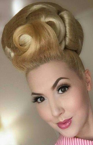 Blond Bouffant Updo Big Bun Hair Blonde Updo Beehive Hair