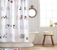 Abc Bath Towel Collection Boys Shower Curtain Kid Bathroom Decor Bathroom Kids