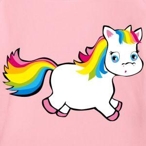 Einhorn Pummel In Regenbogenfarben Unicorn Pink Baby Bio Kurzarm Body Deni Zeichnet Einhorn Zeichnen Augen Zeichnen Regenbogen Farben