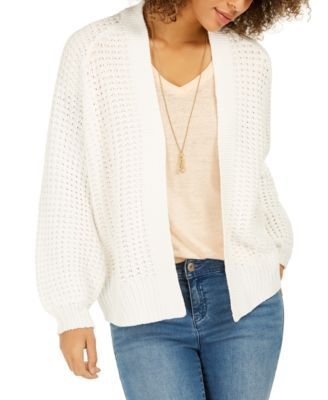 Chunky Cable Knit Open Front Cardigan, Created For Macy's