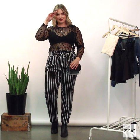 3 Ways To Wear Stripe Pants For Curvy Women