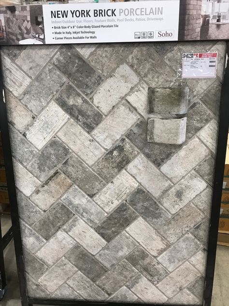 Brick porcelain tile for mud room
