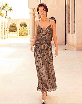 Joanna Hope Beaded Maxi Dress Maxi Dress Beaded Maxi Dress Great Gatsby Prom Dresses