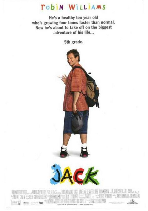 """""""Jack"""" with Robin Williams, such a cute loving movie ..."""