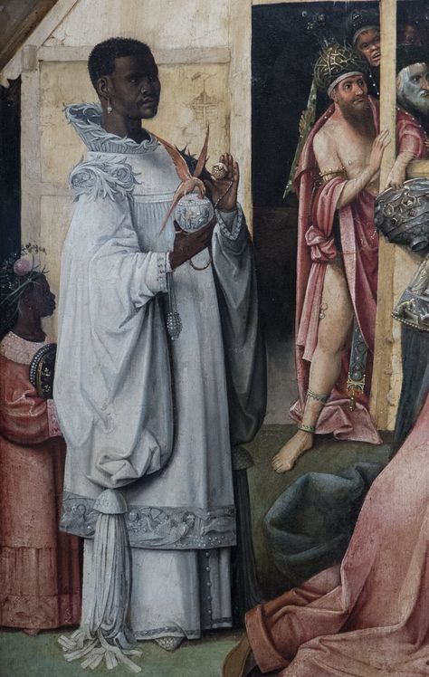 The Adoration of the Magi detail of King Balthazar from the central panel of the triptych 1510 Canvas Art - Hieronymus Bosch x Black History Quotes, Black History Books, Black History Facts, Art History, Hieronymus Bosch, African History, African Art, Black Royalty, African Royalty