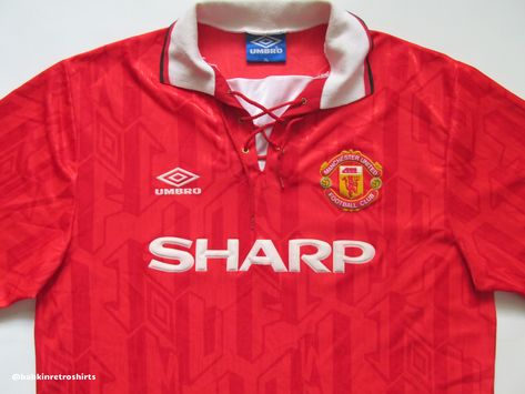 199d4ed8e7d Manchester United 1992 1993 1994 home football shirt by Umbro vintage retro  90s ManUtd MUFC ManUnited classic soccer red  manchesterunited  manchester   mufc ...