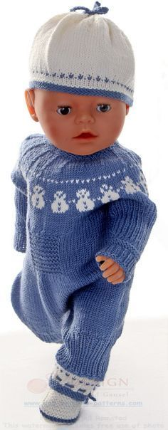 baby born doll knitting patterns   doll clothes   Pinterest   Baby ...