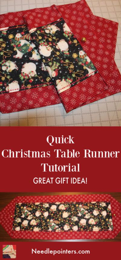 How To Sew A Super Quick Table Runner Even In 15 Minutes Needlepointers Com Table Runner Tutorial Table Runner Diy Diy Sewing Table