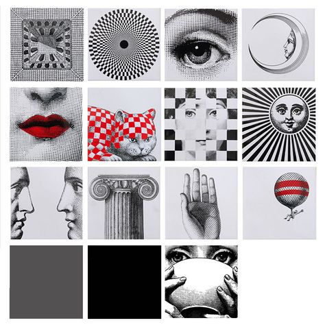 Transparent Tile Sticker Fornasetti Square Waterproof Bathroom//kitchen Poster