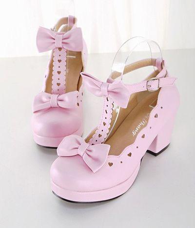 d06f90073 Sweet lolita cosplay bowknot heels from Fashion Kawaii  Japan ...