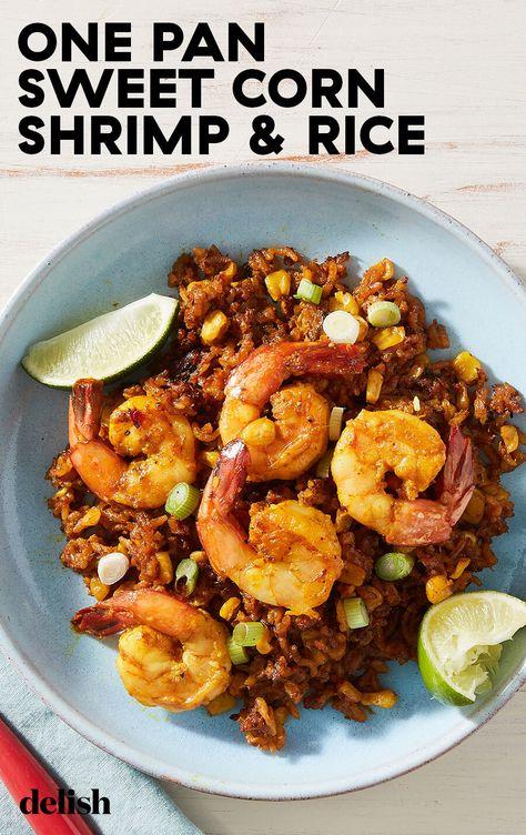 This one-pan corn  shrimp dinner tastes like summer in a skillet.