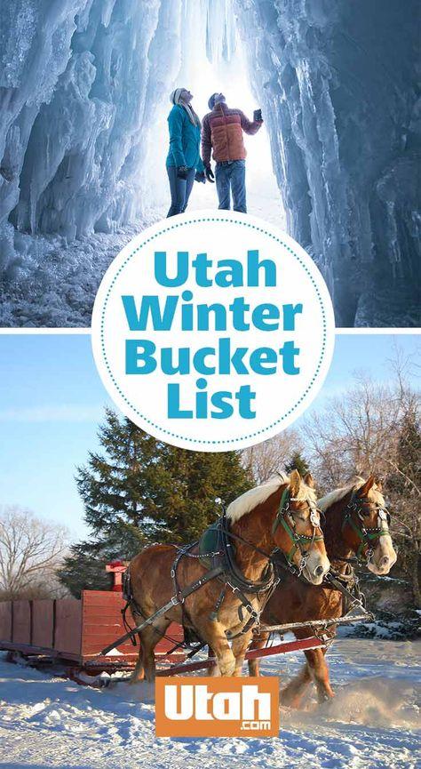 Utah Winter Bucket List - Winter in Utah - Park City Utah, Salt Lake City Utah, Winter Girl, Utah Vacation, Ogden Utah, Utah Adventures, Utah Hikes, Winter Activities, Family Activities