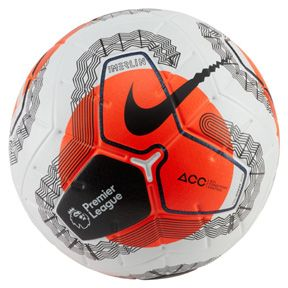 Nike Merlin Premier League 19 20 Match Soccer Ball White Orange Soccerevolution In 2020 Premier League Soccer Ball Soccer