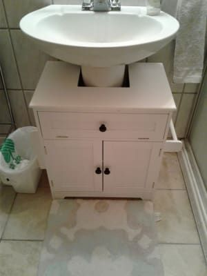 The Pedestal Sink Storage Cabinet Hammacher Schlemmer Pedestal Sink Storage Pedestal Sink Sink Storage