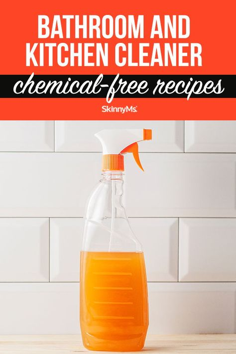 Bathroom Kitchen Cleaner Chemical Free Cleaning Recipes Recipe Cleaning Recipes Cleaning Chemical Free Cleaning