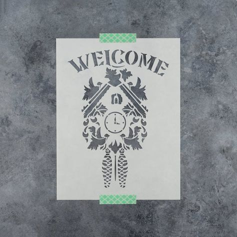 Welcome Stencil Durable /& Reusable Mylar Stencils