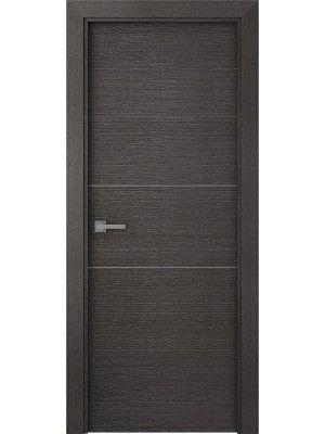 Prefinished Aditi Lock Rail Legna Nera Modern Interior Single Door Single Doors Modern Interior Doors