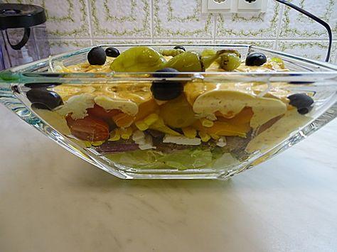 Daphnes schlanker Gyros - Schichtsalat, ein raffiniertes Rezept aus der Kategorie Fleisch & Wurst. Bewertungen: 76. Durchschnitt: Ø 4,4.