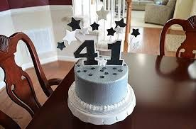 Image Result For 41st Birthday Number Cake 41st Birthday