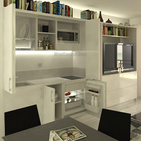 Cucine Moderne Per Piccoli Ambienti.Cucine A Scomparsa Maja Livia Mini Kitchen Home Kitchen