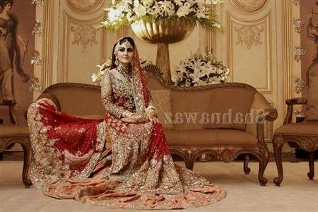 Red And Gold Pakistani Wedding Dresses 2018,2019