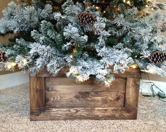 Diy Scrap Wood Crate Christmas Tree Stand Wooden Christmas Trees Christmas Tree Base Christmas Tree Box Stand