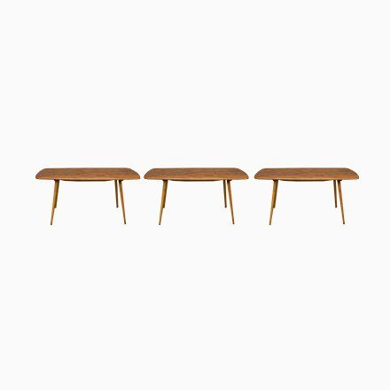 Elm And Beech Dining Table Side Tables Set By Lucian Ercolani For Er British Furniture Design British Furniture Parker Furniture