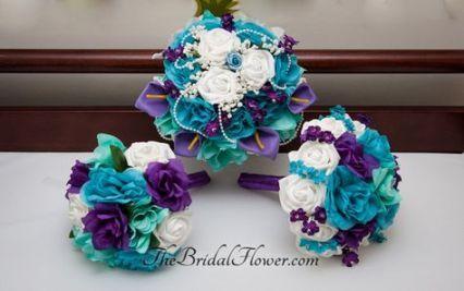 32 Ideas Wedding Cakes Turquoise And Purple Teal Wedding Purple