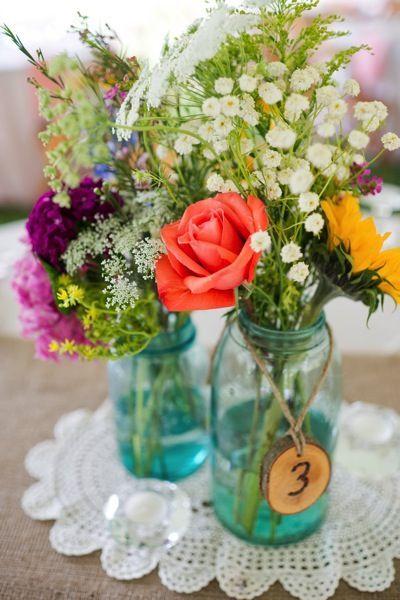 60 Beautiful Mason Jar Wedding Flower Arrangement Ideas Page 46 Of 60 Chic Hostess Wedding Centerpieces Mason Jars Mason Jar Wedding Mason Jar Centerpieces