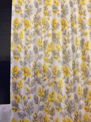 Target Re Room Essentials Gray And Yellow Vine Shower Curtain New
