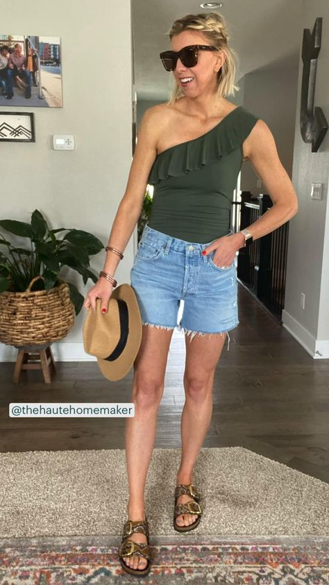 5 Outfit Ideas with Denim Shorts |The Haute Homemaker