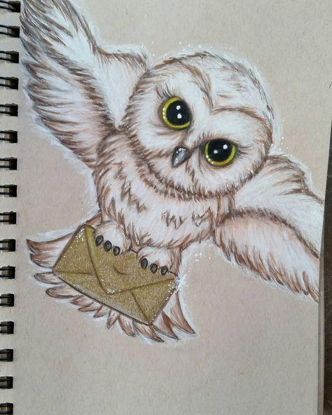 Harry Potter Artwork Sketch Print Hedwig Harry Potter Art Drawings Harry Potter Artwork Harry Potter Sketch