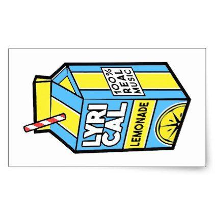 Lyrical Lemonade Rectangular Sticker | Zazzle com in 2019
