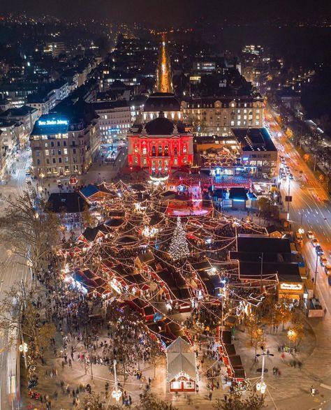 Marché de Noël à Zurich (: @ cemerk85) #Suisse_Vacances …