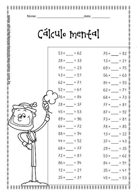 Cálculo Mental Atividades Pedagogica Suzano Secundaria Matematicas Ejercicios Matematicas Primaria Lecciones De Matemáticas