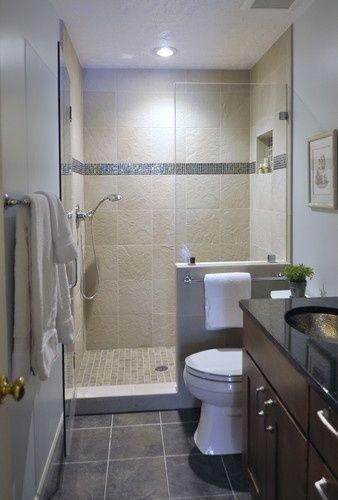 Creative Decor 39 Bathrooms With Half Walls Small Bathroom Remodel Pictures Small Space Bathroom Bathroom Remodel Pictures