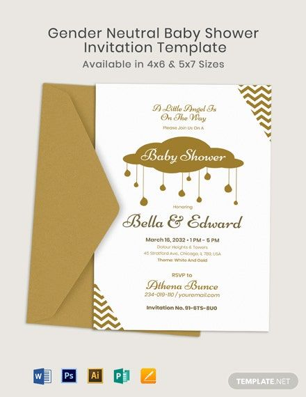 Gender Neutral Baby Shower Invitation Template Free Jpg Illustrator Word Apple Pages Psd Publisher Template Net Gender Neutral Baby Shower Invitations Baby Shower Invites Neutral Baby Shower Invitation Templates