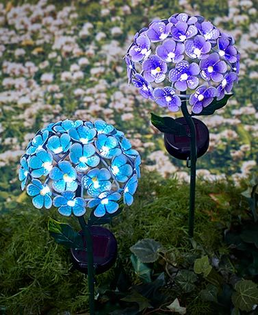 26 Light Solar Flower Stakes In 2020 Solar Flower Lights Solar Lights Garden Solar Flower