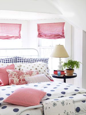 Garnet Hill Dot to Dot Percale Bedding in Country Living