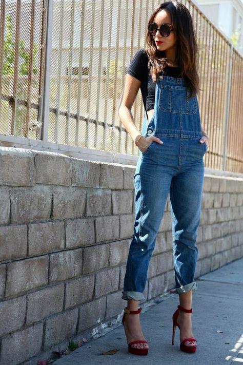 la salopette pour l'été 2015, tendance, mode, femme, de style rétro-chic