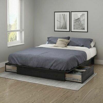 Underbed Storage Drawers Platform Bed, Queen Size Under Bed Storage