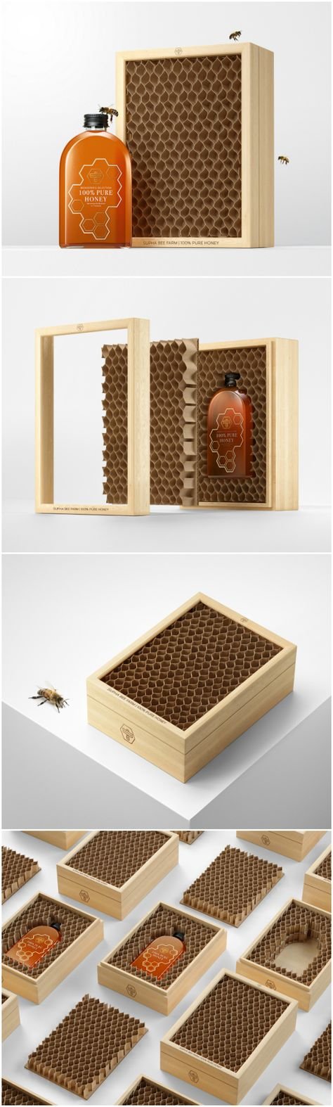 Supha Bee Farm Honey Packaging Design by Prompt Design - World Brand Design Society