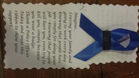 Thank a police officer ribbon