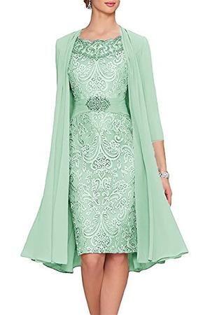 Women S Tea Length Mother Of The Bride Dresses Two Pieces With Jacket T A Y Online Store In 2020 Teelange Kleider Kleid Hochzeit Gast Kleider Hochzeit
