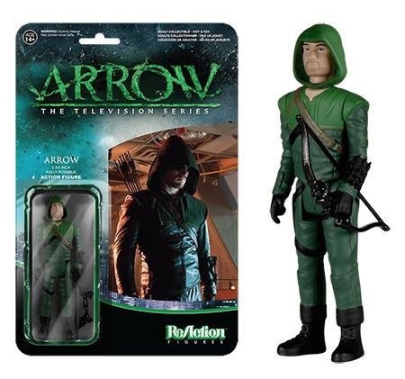 Funko ReAction: Arrow - Green Arrow Unmasked Exclusive Action Figure