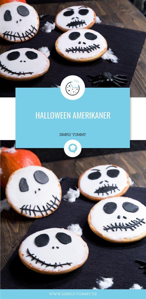 Halloween Snack: gruselige Amerikaner! #halloween #party #snacks #fingerfood #partyfood #amerikaner #backen #rezept #rezepte #lecker #kleingebäck #halloween photography kids