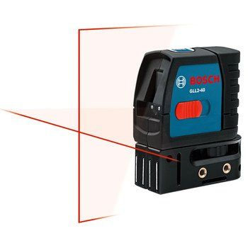 Bosch Gll2 40 Self Level Cross Line Laser Up To 30 Feet Laser Levels Ideal Tools Plumbing Tools