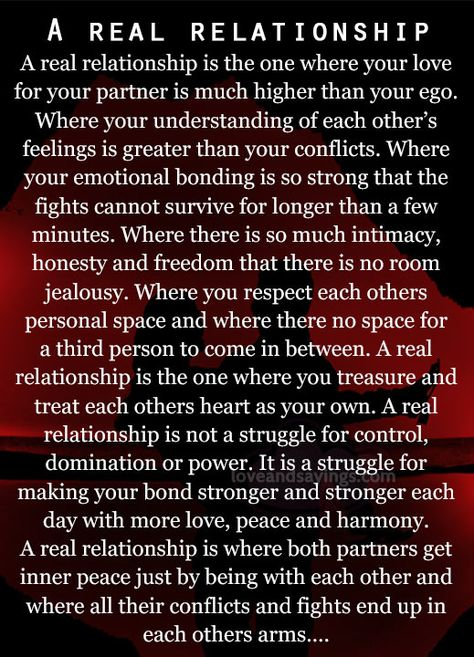 real relationship | real relationship is the one where | Love and Sayings