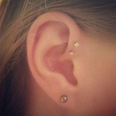 forward helix ear piercings